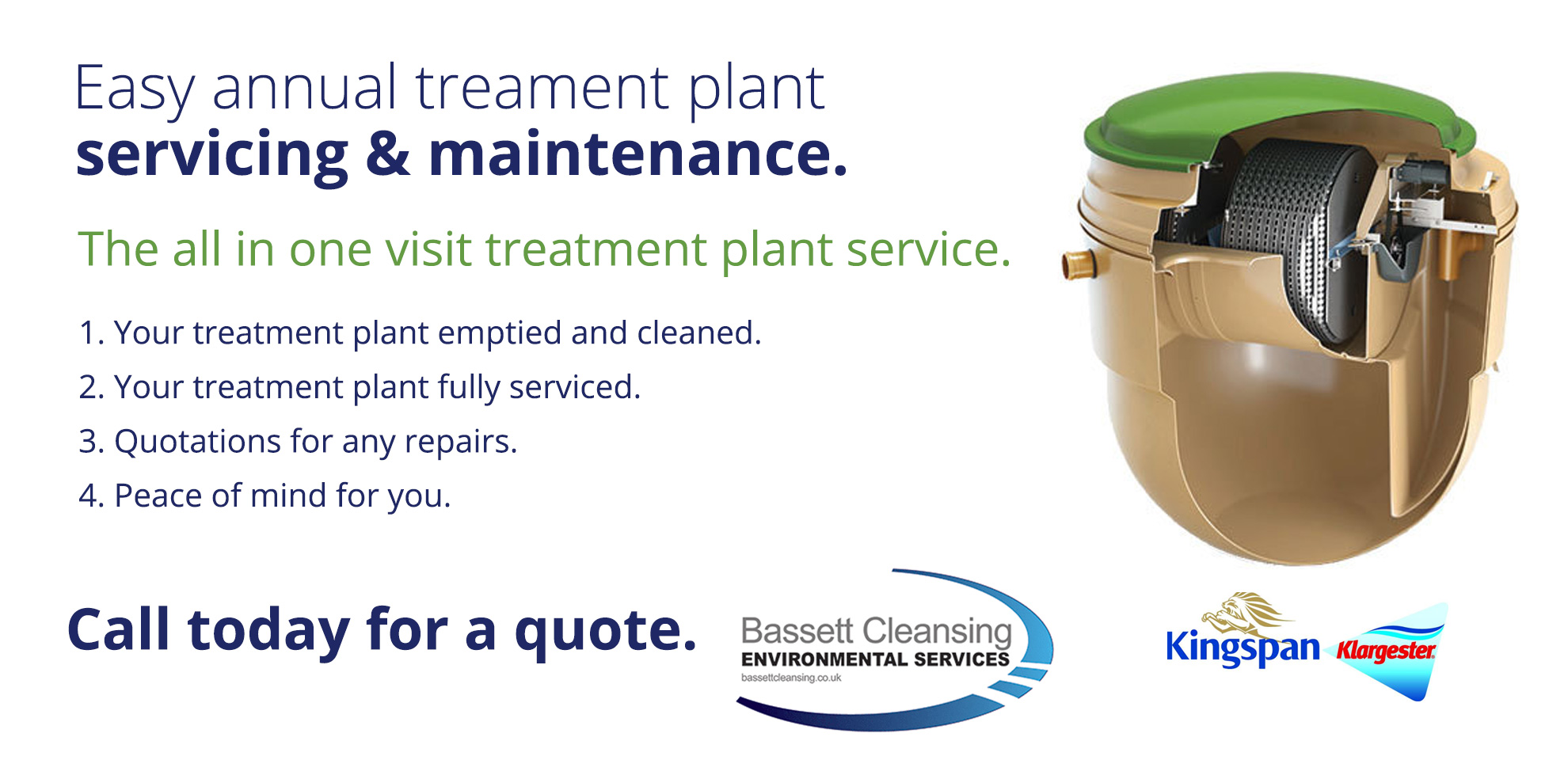 Treatment Plant servicing in Swindon and Wiltshire